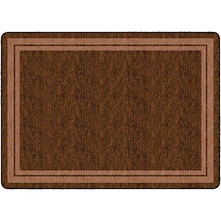 "Flagship Carpets Double-Border Rectangular Rug, 72"" x 100"", Chocolate"