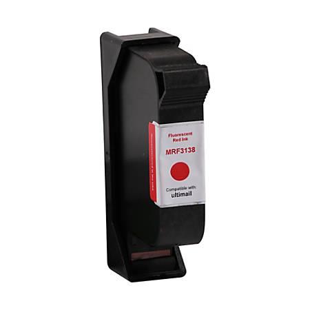 Clover Imaging Group MFR3138 (198 580033313800) Remanufactured Fluorescent Red Postage Meter Ink Cartridge Set