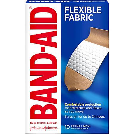 Band-Aid® Brand Flexible Fabric Extra-Large Bandages, Box Of 10