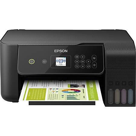 Epson® EcoTank ET-2720 Wireless Color Inkjet Supertank All-In-One Printer, Copier, Scanner, C11CH42201