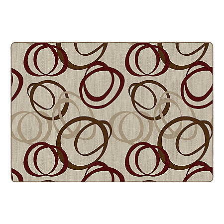 "Flagship Carpets Duo Rectangular Rug, 100"" x 144"", Pearl"