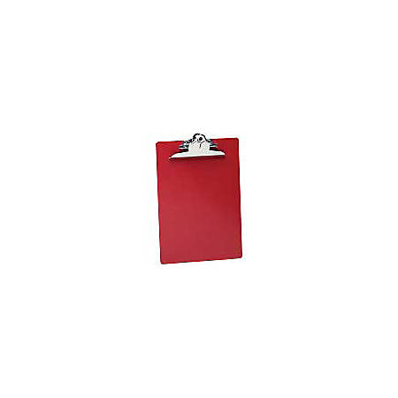 """Saunders® Plastic Clipboard, 8 1/2"""" x 12"""", Red"""
