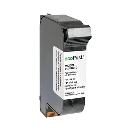 Clover Imaging Group ECOPIC40 (PIC40) Remanufactured Fluorescent Red Ink Cartridges, Pack Of 2 Cartridges