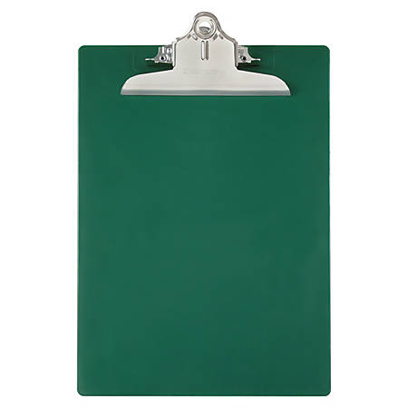 "Saunders® 96% Recycled Antibacterial Clipboard With Hanging Hole, 13 1/4""H x 9""W x 1 3/4""D, Letter, Green"