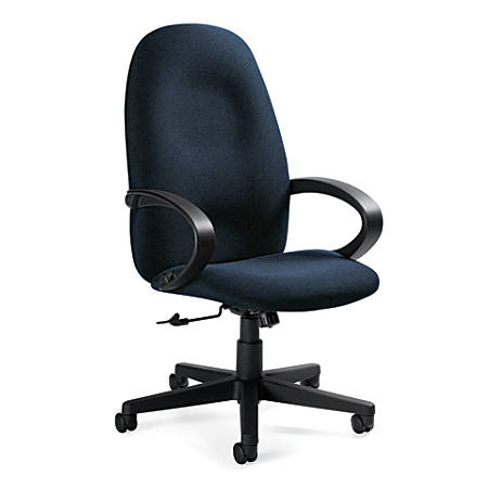 "Global® Enterprise High-Back Tilter Chair, 45""H x 24 1/2""W x 27""D, Sapphire/Black"