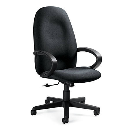 "Global® Enterprise High-Back Tilter Chair, 45""H x 24 1/2""W x 27""D, Graphite/Black"