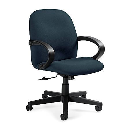 "Global® Enterprise Low-Back Tilter Chair, 39""H x 24 1/2""W x 26 1/2""D, Sapphire/Black"