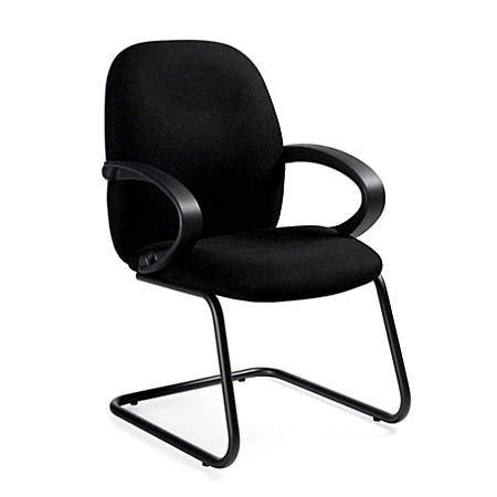 Global® Enterprise® Fabric Guest Chair, Black