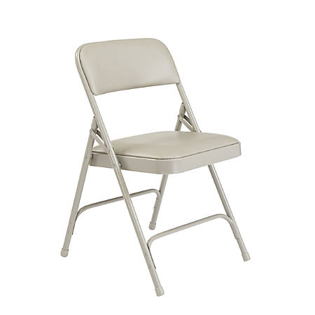 National Public Seating Series 1200 Folding Chairs, Gray, Set Of 4 Chairs