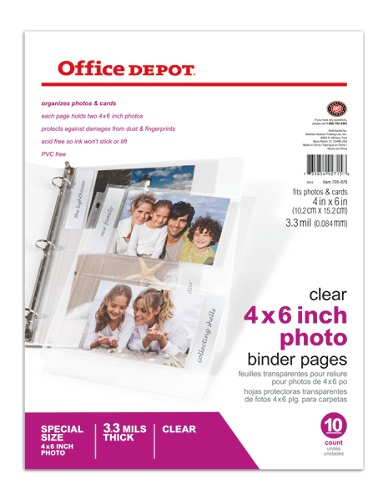 Office depot brand photo pages 4 x 6 pack of 10 by office depot office depot brand photo pages 4 x 6 pack of 10 by office depot officemax reheart Images
