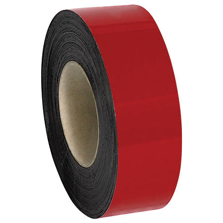 """Office Depot® Brand Magnetic Warehouse Label Roll, LH148, 2"""" x 100', Red"""