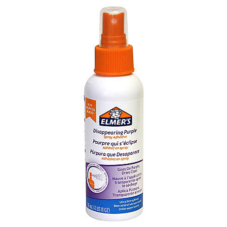 Elmer's® Spray Adhesive, Disappearing Purple, 4 Oz