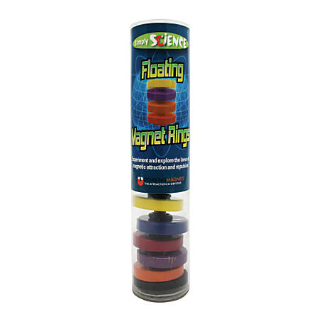 """Dowling Magnets Floating Magnet Rings Kit, 1 1/4""""H x 1 1/4""""W x 6""""D, Pre-K - Grade 6"""