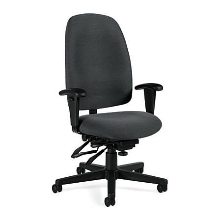 "Global® Granada Multi-Tilter High-Back Chair, 43""H x 26""W x 23""D, Cabernet/Black"