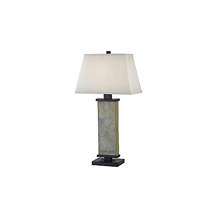 "Kenroy Hanover Table Lamp, 29""H, Natural Slate"