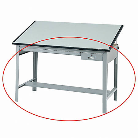 "Safco® Precision Drafting Table Base, 35-1/2""H x 56-3/8""W x 30-1/2""D, Gray"