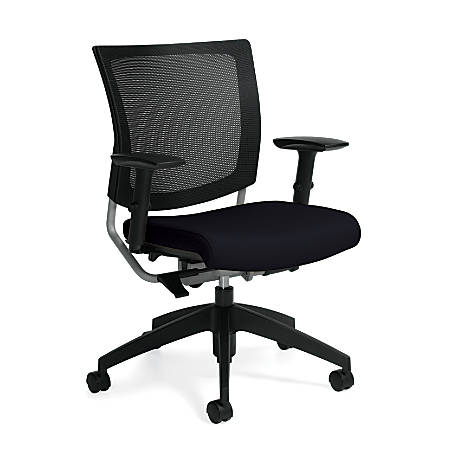 """Global® Graphic Mid-Back Chair, 36""""H x 25""""W x 24""""D, Coal/Black"""