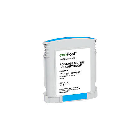 Clover Imaging Group ECO787D (Pitney Bowes 787-D) Remanufactured Cyan Ink Cartridge
