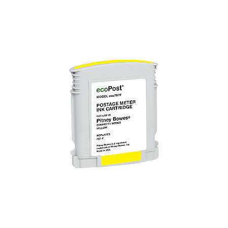 Clover Imaging Group ECO787F (Pitney Bowes 787-F) Remanufactured Yellow Ink Cartridge
