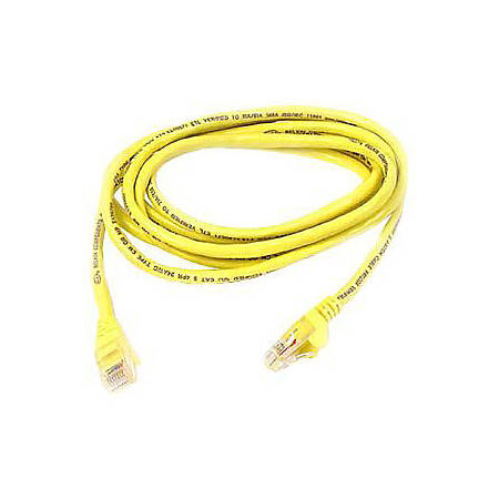 "Belkin Cat.6 UTP Patch Cable - RJ-45 Male Network - RJ-45 Male Network - 6"" - Yellow"