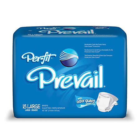"Per-Fit® Frontal Tape Briefs, Large, 45""-58"", Blue, Box Of 18"