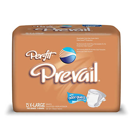 """Per-Fit® Frontal Tape Briefs, X-Large, 59""""-64"""", Beige, Box Of 15"""