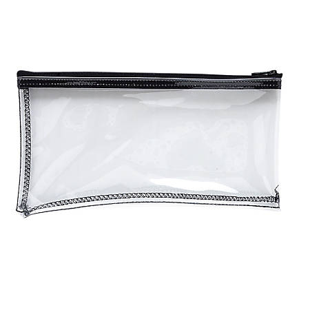 "MMF Industries Clear View Vinyl Zipper Wallet Bag, 6"" x 11"", Clear"