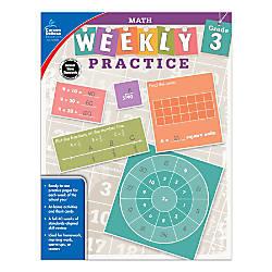 Carson Dellosa Math Weekly Practice Workbook