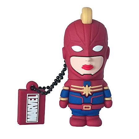 Tribe Avengers Captain Marvel USB Flash Drive, 16GB, Red, FD016507