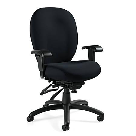 """Global® Mallorca High-Back Chair, 41 1/2""""H x 25""""W x 26""""D, Ocean/Black"""