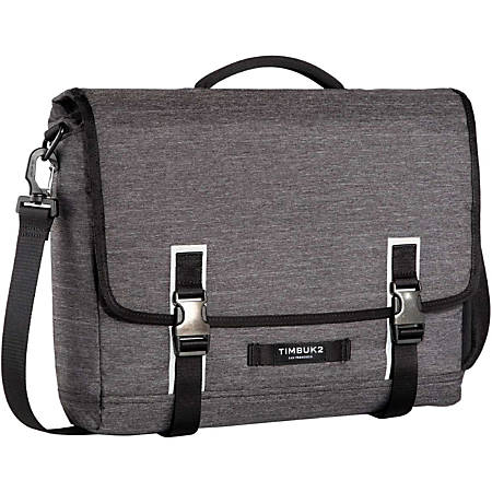 """Timbuk2 Closer Carrying Case (Briefcase) for 15"""" Notebook - Jet Black - Water Resistant - Polyester, Neoprene Pocket - Handle, Shoulder Strap - 13"""" Height x 15.4"""" Width x 3.1"""" Depth"""
