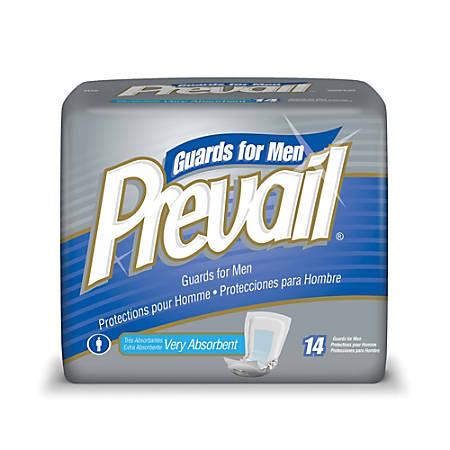 """Prevail® Male Guards, 13""""L, Box Of 14"""