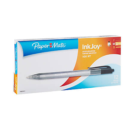Paper Mate InkJoy 2 in 1 Stylus Ballpoint Pens Medium Point Black Box of 12