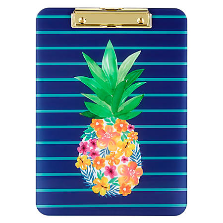 "Office Depot® Brand Fashion Clipboard, 9"" x 12-1/2"", Instaculture Pineapple"
