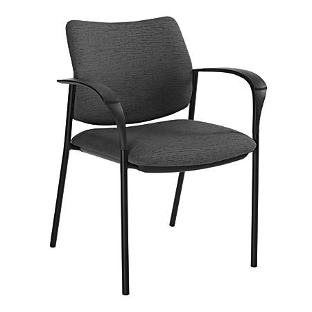 "Global® Sidero Armchair, 32""H x 25 1/2""W x 24""D, Granite Rock/Black"