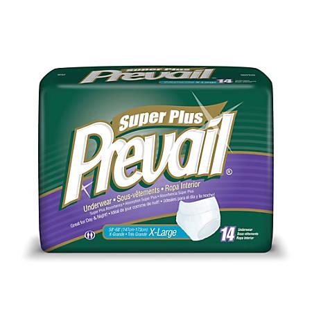 "Prevail® Protective Underwear-Super Plus, X-Large, 58""-68"", Black, Box Of 14"
