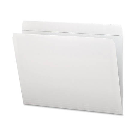 Smead® Straight-Cut File Folders, Letter Size, White, Box Of 100