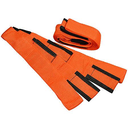 "Cosco® Moving Straps, 9' x 3"", Orange/Black, Pack Of 2 Straps"