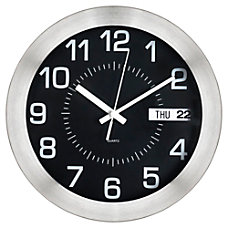 Realspace Round Wall Clock 11 Brushed