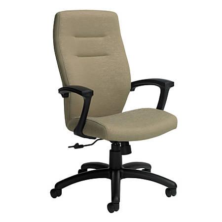 "Global® Synopsis High-Back Chair, 43 1/2""H x 24 1/2""W x 26 1/2""D, Beach Day/Black"