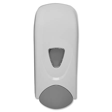 Genuine Joe 1000ml Liquid Soap Dispenser - Manual - 1.06 quart Capacity - White, Gray - 12 / Carton