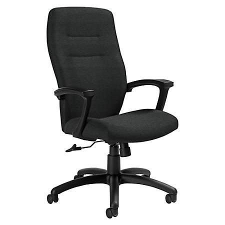 "Global® Synopsis High-Back Chair, 43 1/2""H x 24 1/2""W x 26 1/2""D, Granite Rock/Black"