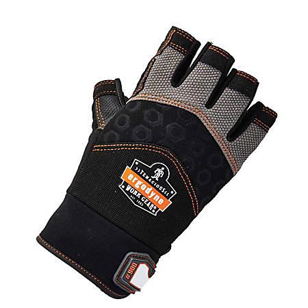 Ergodyne ProFlex 900 Half-Finger Impact Gloves, XX-Large, Black