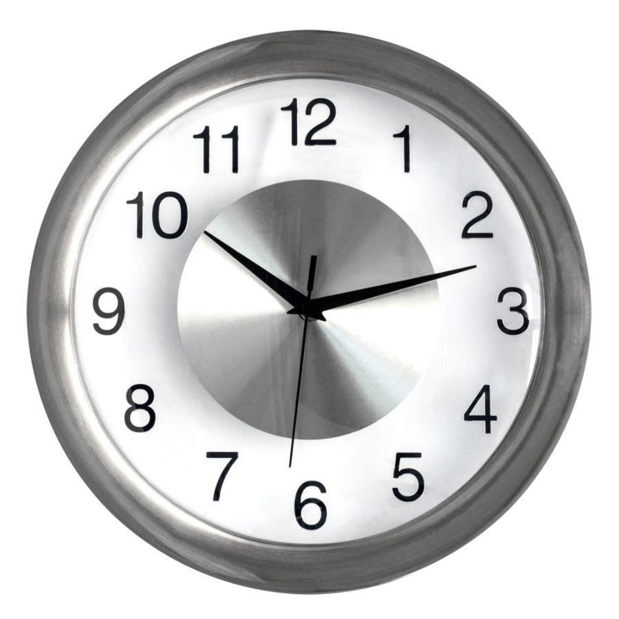 Wall clock for office Standard Office Depot Realspace Round Quartz Analog Wall Clock 12 Silver office Depot