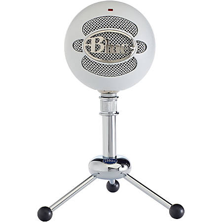 Blue Snowball USB Microphone - Textured White - 2 capsule design - Mac and PC compatible - USB - 3 pickup options - 40Hz - 18kHz
