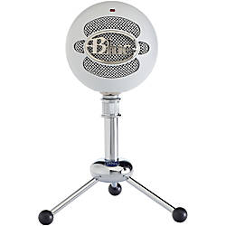 Blue Snowball USB Microphone Textured White