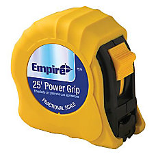 Empire Power Grip Tape Measure SAE