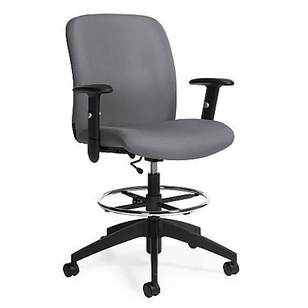 "Global® Truform Mid-Back Chair, 47""H x 25""W x 20""D, Slate/Black"