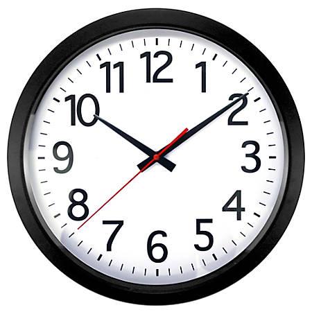 """Realspace® Quartz Wall Clock, 14"""", Black"""