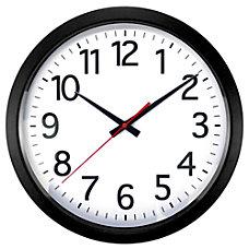 Realspace Quartz Wall Clock 14 Black